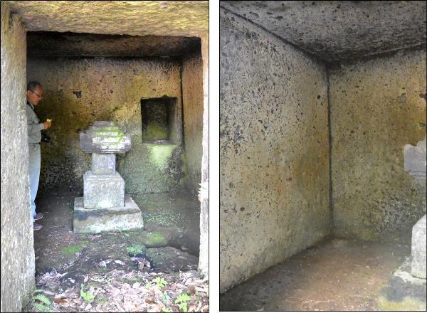 整然とした玄室内部(普済寺跡)